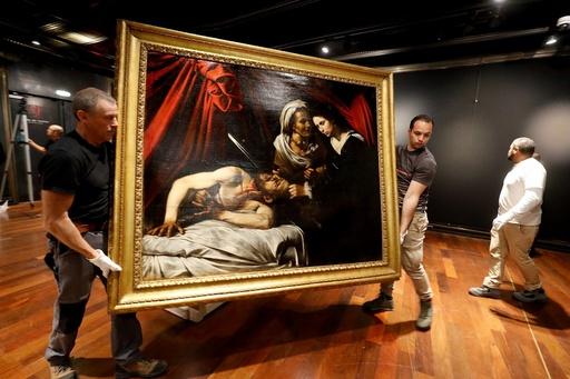 動画:屋根裏で発見の「カラバッジョ絵画」、競売へ 予想落札額180億円