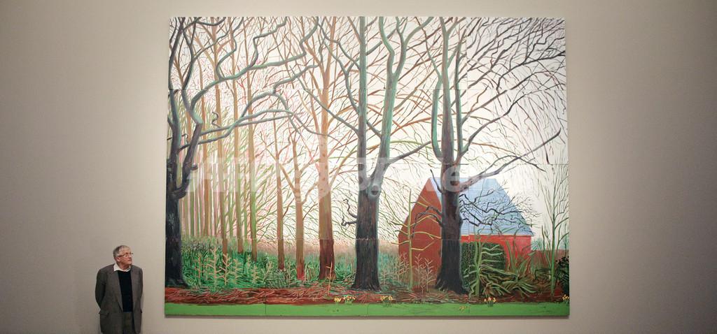 画家D・ホックニー、テート・ブリテンに自作を寄贈