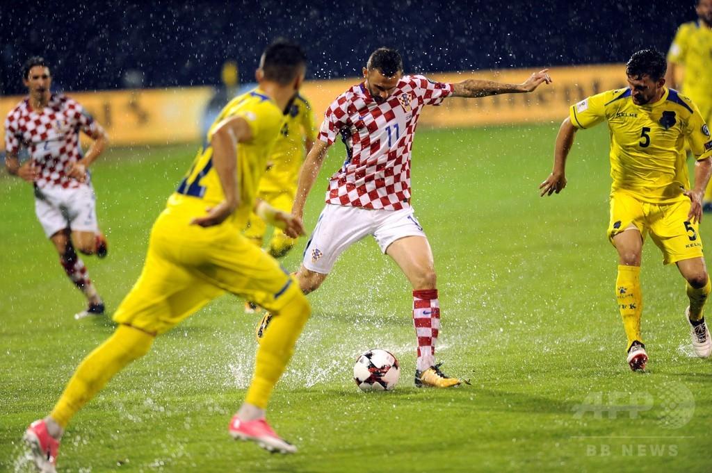 クロアチア対コソボ戦は豪雨延期、ウクライナが暫定首位に W杯欧州予選