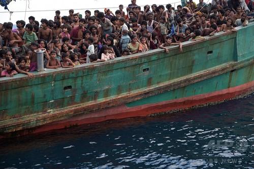 ミャンマー沖などで漂流の難民2000人以上 国連発表