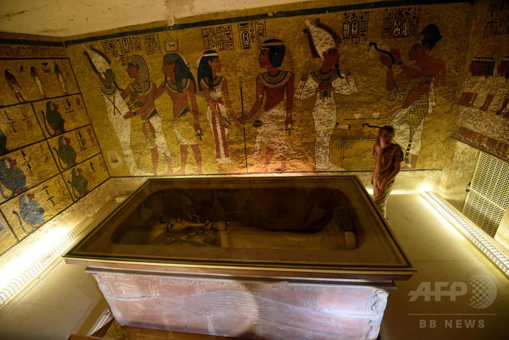 ツタンカーメン墓の「隠し部屋」存在せず 科学者らが調査結果