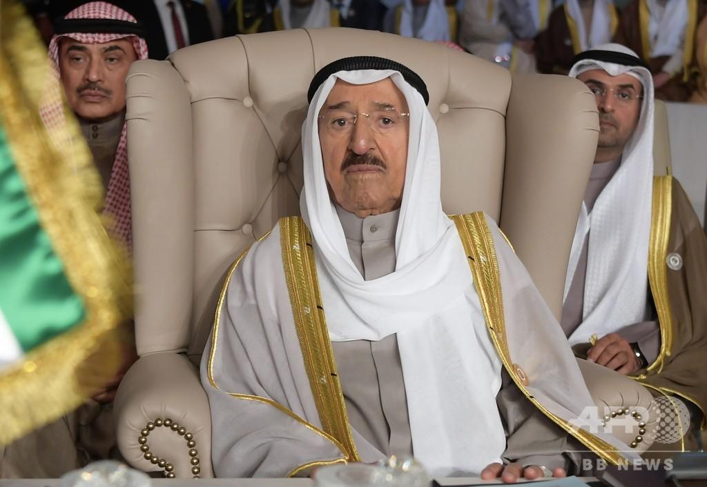 90歳のクウェート首長が米国で入院、トランプ氏との会談延期に