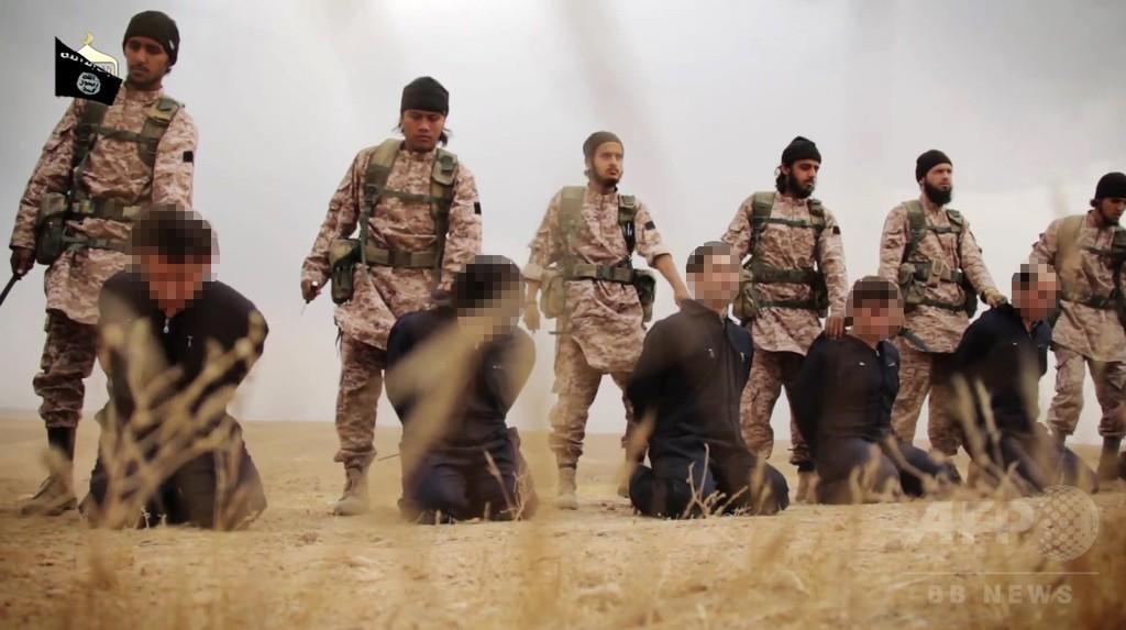 イスラム国、米国人とシリア軍関係者18人を殺害したとする映像公開