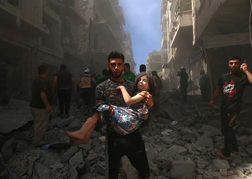 シリアの民間人虐殺「やめろ!」 トランプ氏ツイート