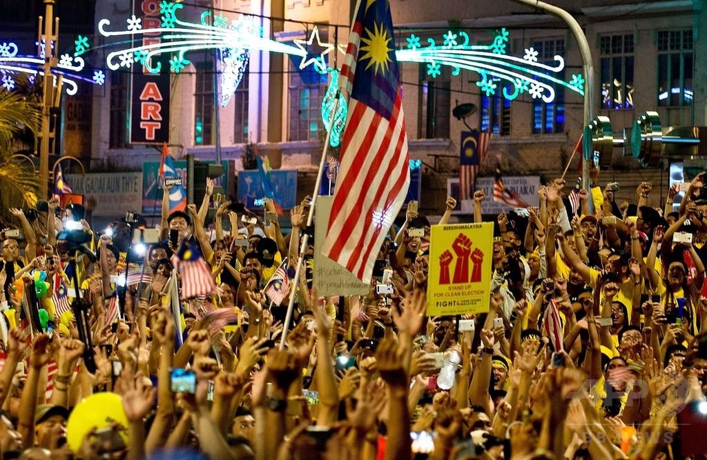 マレーシア首都が黄色に、2日連続の首相退陣要求デモ