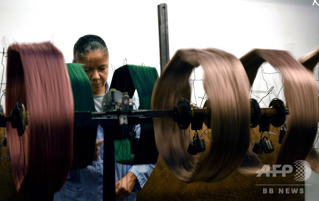 ダビンチ設計に基づいた機械が今も現役、伊フィレンツェの絹工房