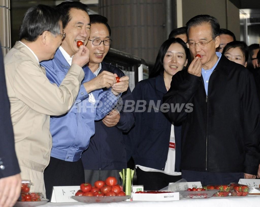 日中韓首脳、東日本大震災の被災地を訪問 22日に首脳会談