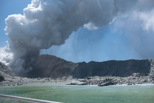 NZホワイト島の火山噴火、死者5人に 少なくとも10人行方不明