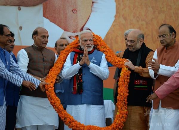 インド地方選、首相の与党BJPが勝利 来年の総選挙に弾み