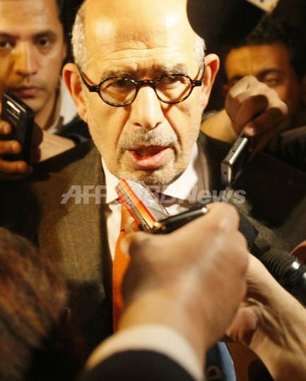 エルバラダイ氏「変革率いる用意ある」、デモ死者7人に エジプト