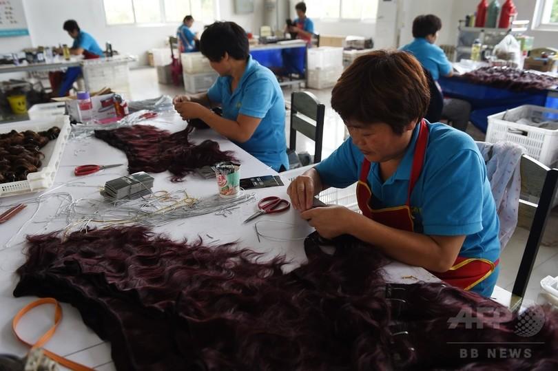 中国の人毛加工製品、輸出が急成長