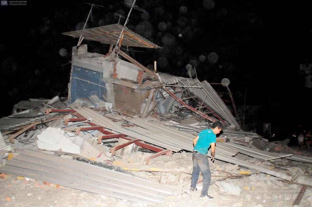 南米エクアドルでM7.8の地震、41人死亡 非常事態を宣言