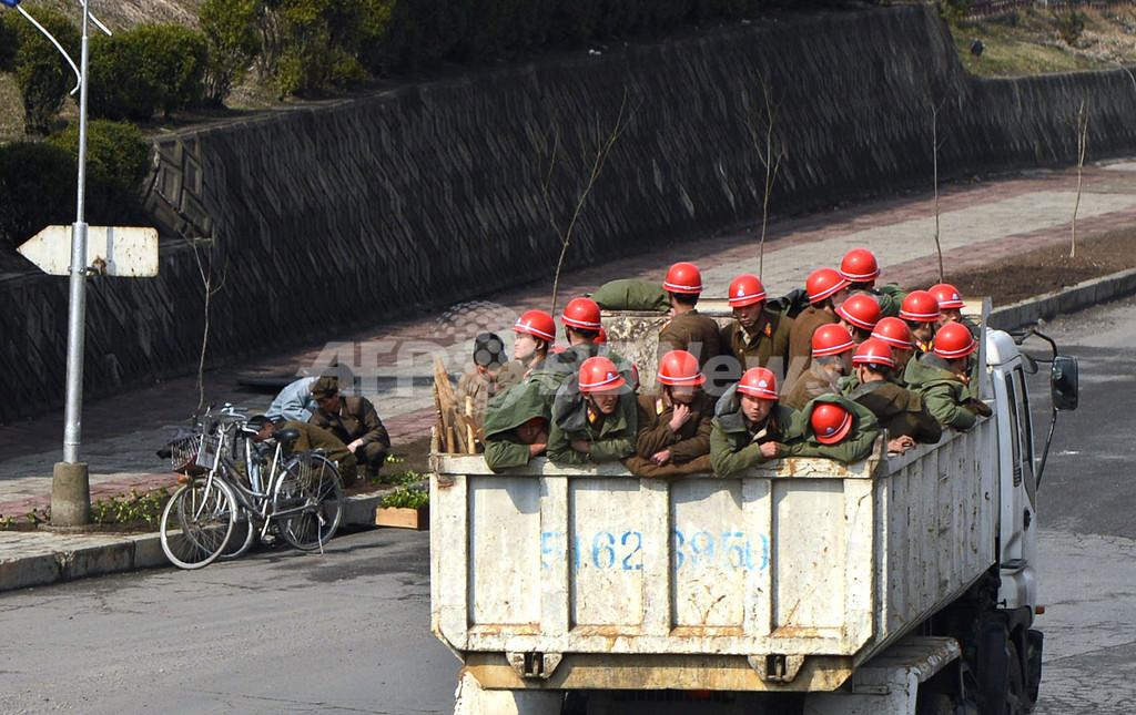 平壌市民の日常風景、AFP記者が撮影