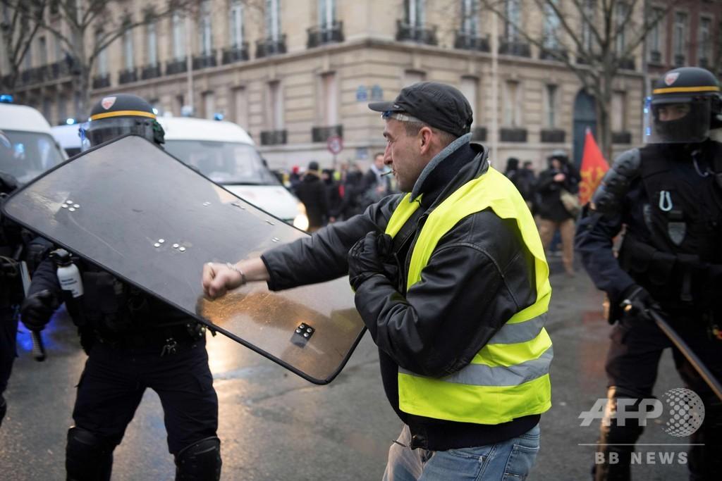 仏で10週目の「黄色いベスト運動」、参加者数は前週とほぼ変わらず