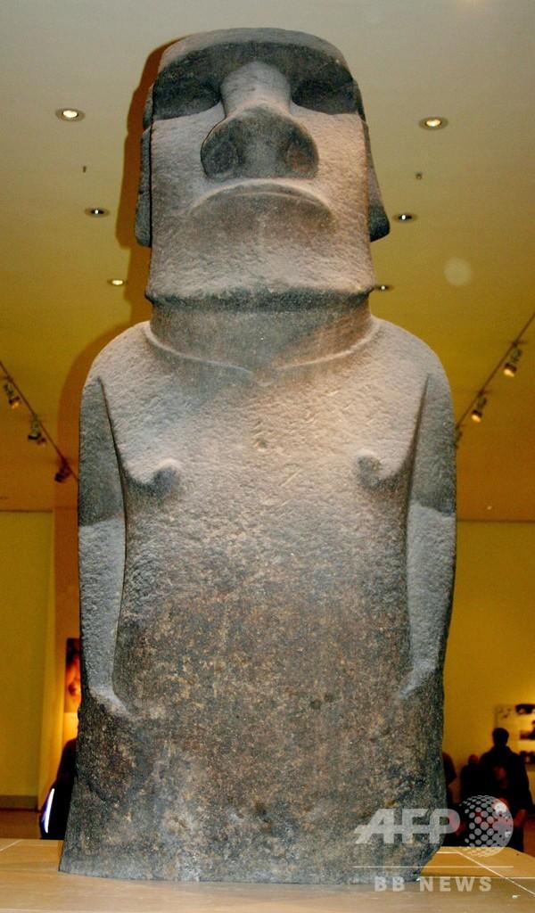大英博物館収蔵のモアイ像、イースター島の先住民が返還求める動き
