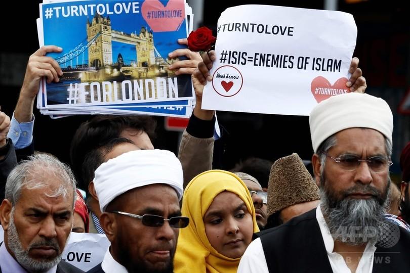 ロンドンでイスラム教徒への憎悪犯罪が急増、襲撃事件後5倍に