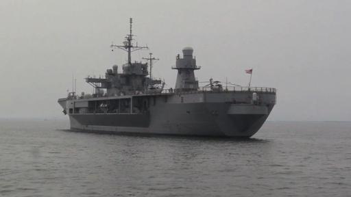 動画:米海軍第7艦隊の旗艦「ブルーリッジ」 マニラに入港 関係強化目指す