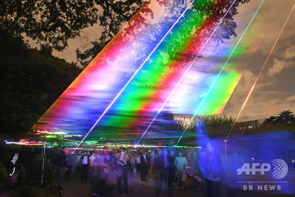 デジタル空間の夜の散歩道 東京・新宿御苑で夜間開放イベント