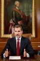 スペイン国王がテレビ演説、カタルーニャ自治州指導者らを厳しく非難