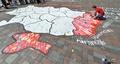 「ウクライナの損失」、若者たちが地図に描く