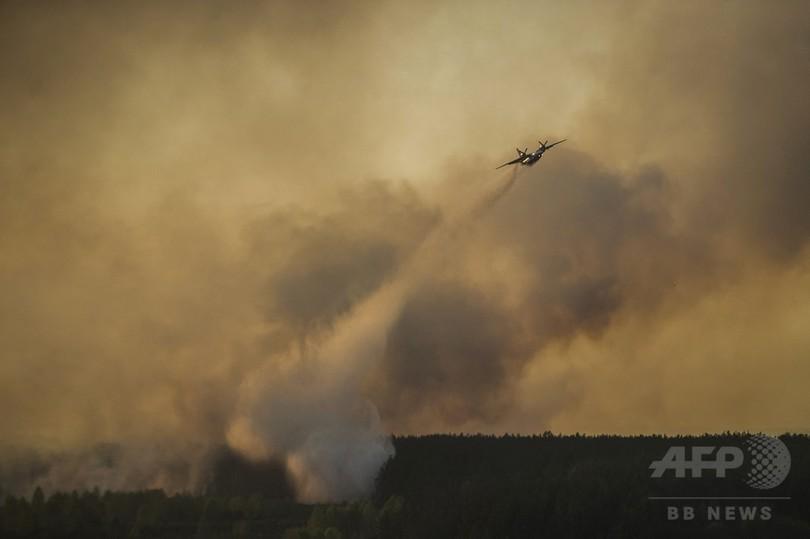 チェルノブイリで森林火災、「原発に影響なし」と当局