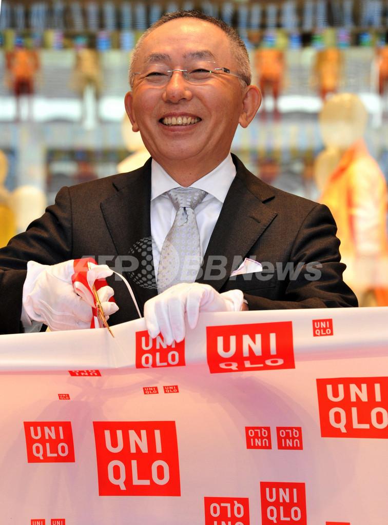 世界最大の「ユニクロ銀座店」オープン、柳井代表がテープカット