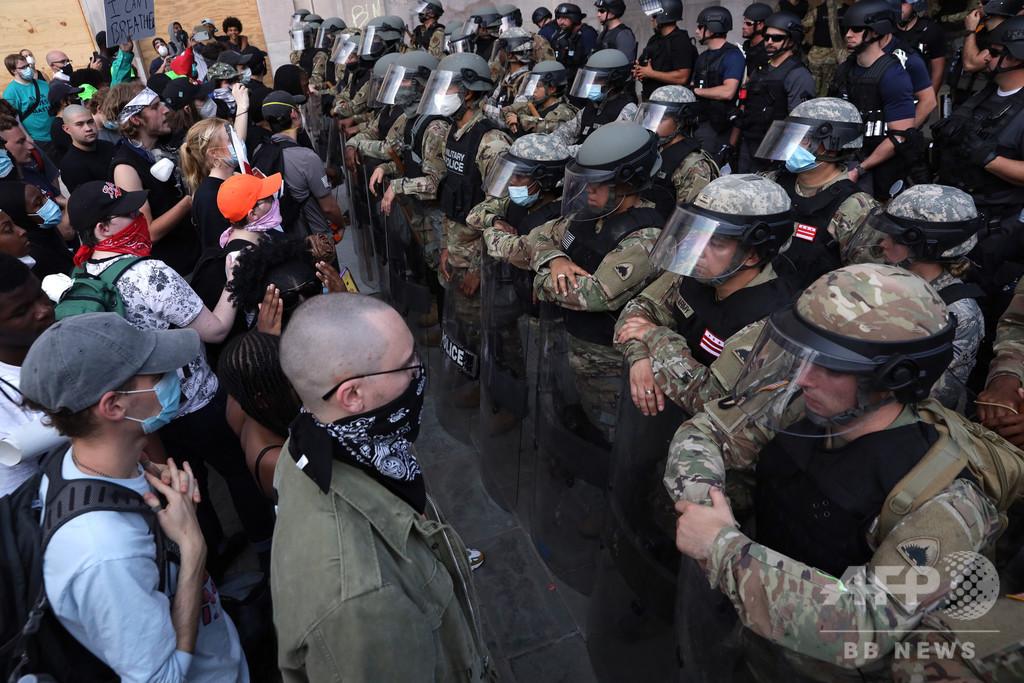 抗議デモ対応に動員されコロナ陽性、米首都ワシントン州兵