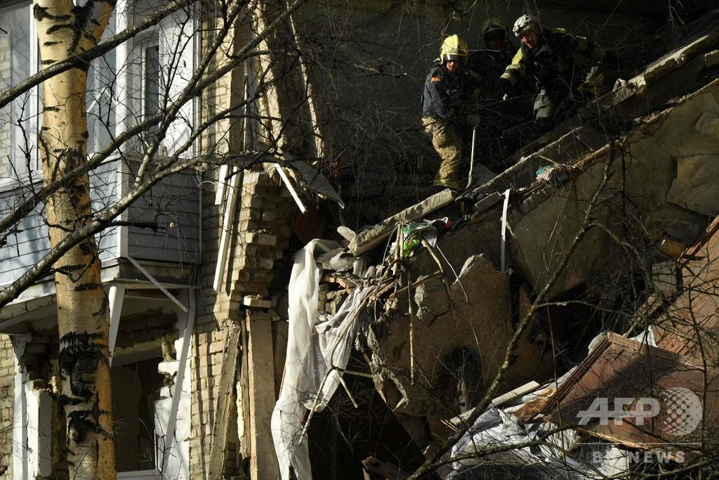 モスクワ郊外の集合住宅で爆発、2人死亡 外出禁止措置続く中