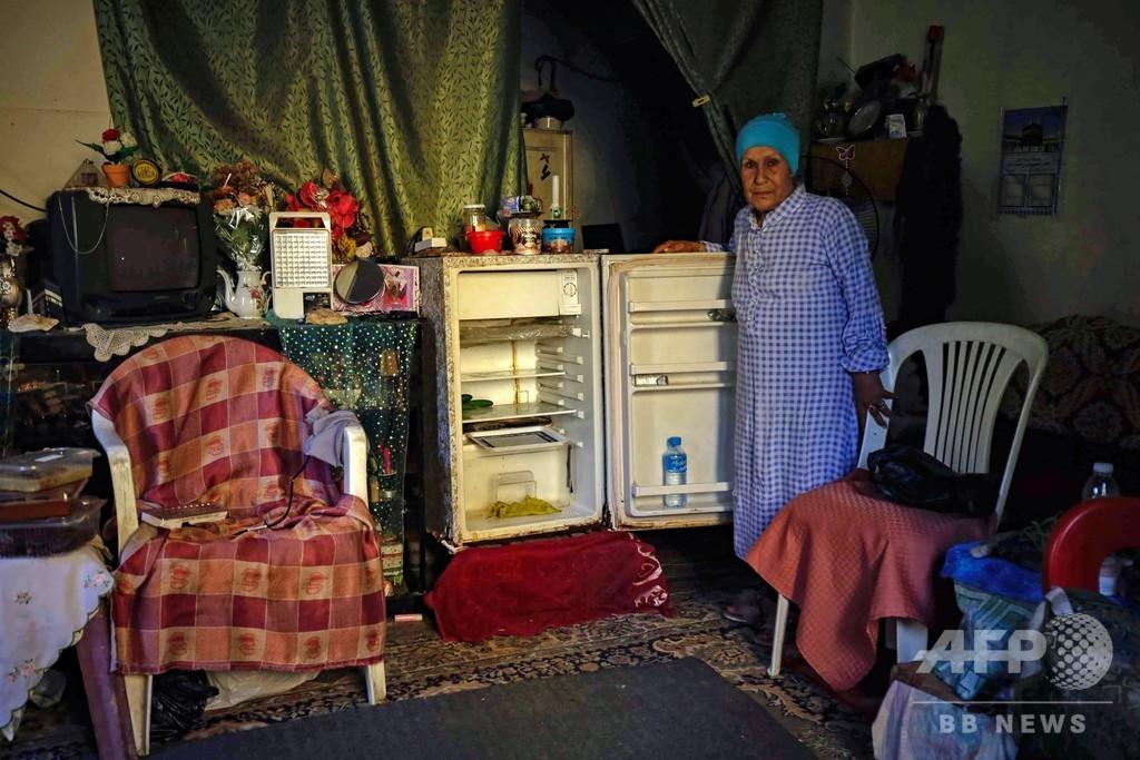 空になった冷蔵庫…レバノンの経済危機