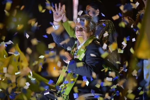 エクアドル大統領選、左派候補が勝利 対立候補は選挙の不正を主張