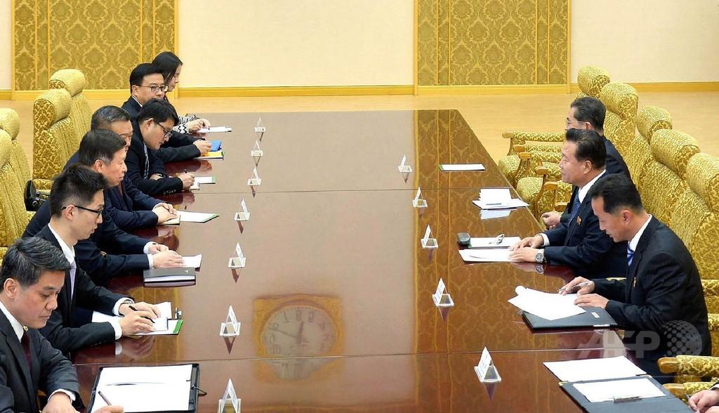 中国特使、北朝鮮ナンバー2と平壌で会談