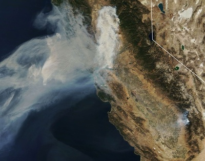 米カリフォルニア州森林火災、サンフランシスコでも大気汚染