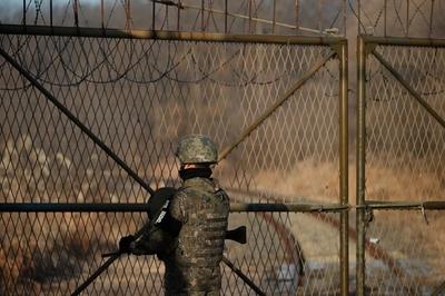 北朝鮮兵士1人、軍事境界線を越えて韓国に