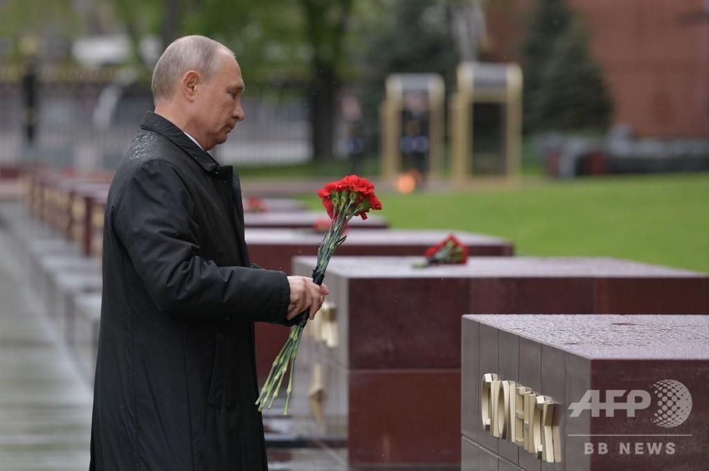 プーチン大統領、団結すれば「無敵」 戦勝記念日に国民へ呼び掛け