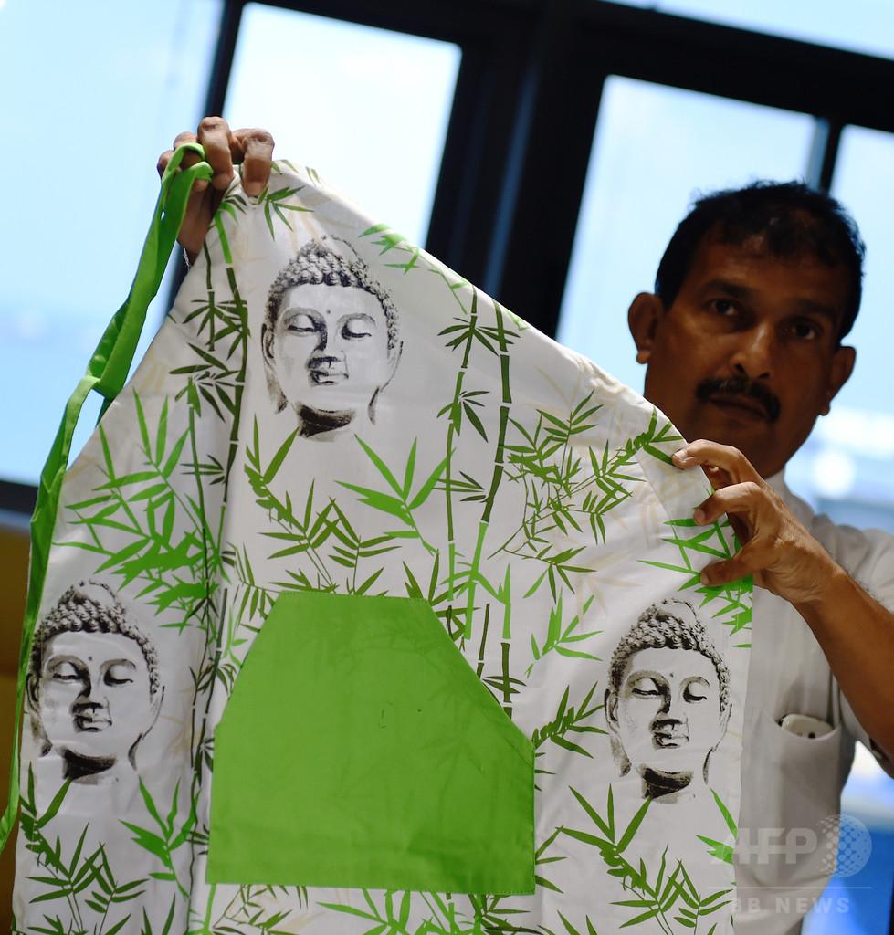 ブッダの絵入りエプロンは「侮辱」、スリランカの税関当局が没収