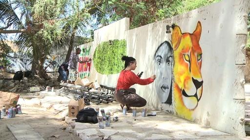 動画:セネガルでグラフィティフェス、アフリカや欧州のアーティストが集結