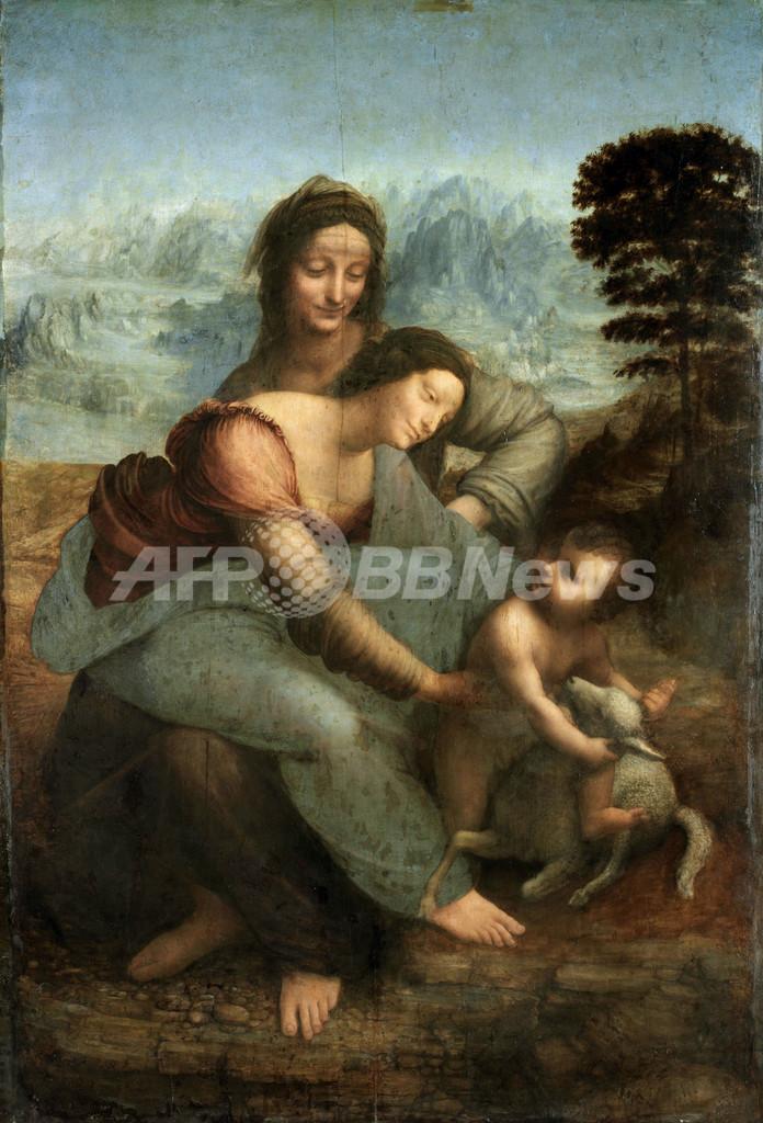 ダビンチ『聖アンナと聖母子』の裏から、新スケッチ3点