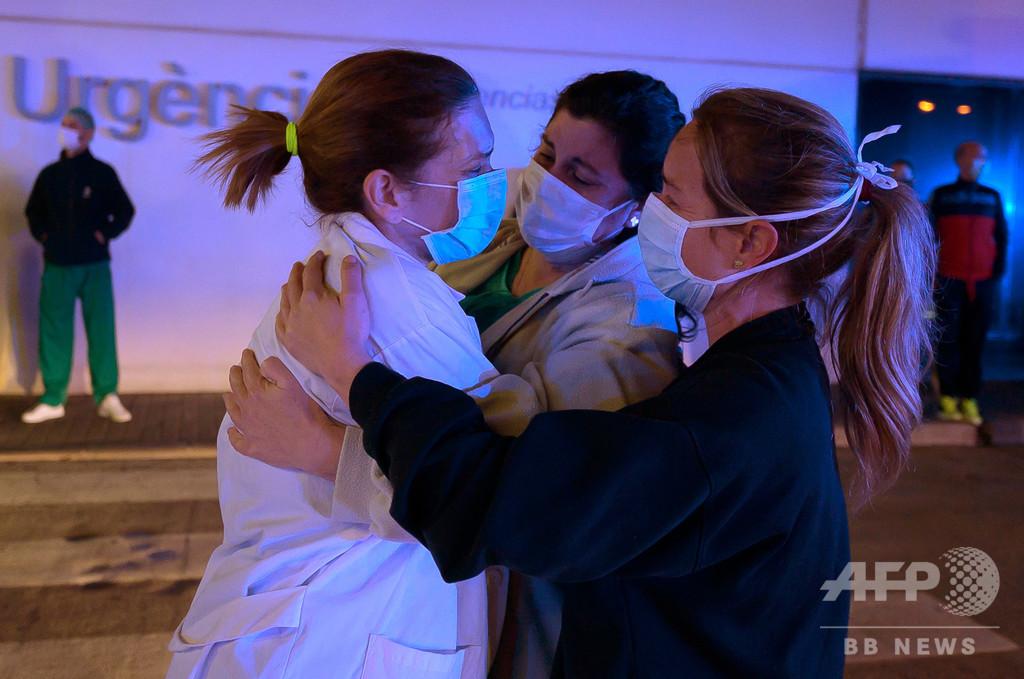 スペインの新型ウイルス死者、1日で769人増 計4858人に
