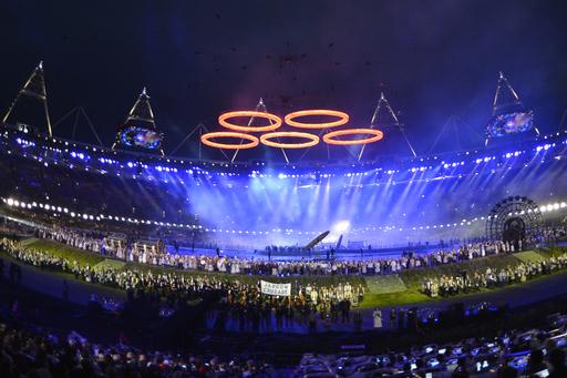 大きな鐘の音で幕開け、ボンドやMr.ビーンも登場 ロンドン五輪が開幕