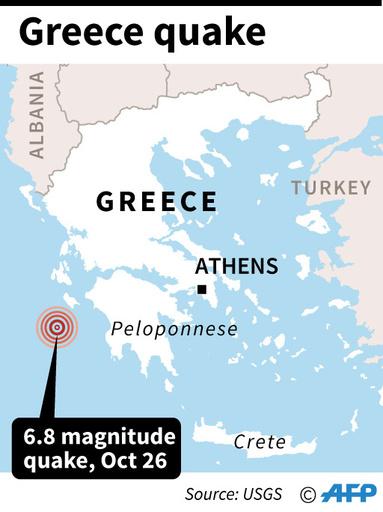 ギリシャ沖でM6.8の地震、「死傷者が出た可能性低い」 USGS