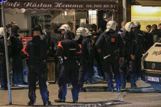 暴動のスウェーデン首都、やや沈静化