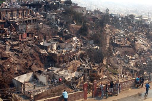 南米チリの大火災 12人死亡、8000人避難