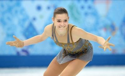 フィギュア女子シングルを制したソトニコワ、ソチ五輪