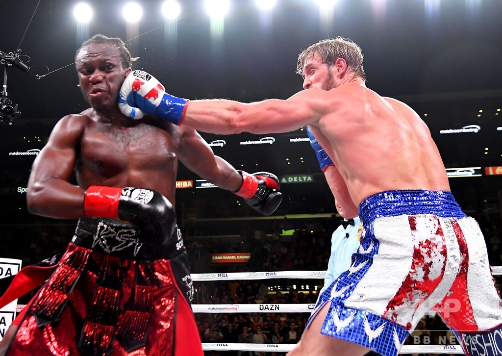 人気YouTuberのボクシング対決が成功、「本物」選手の意見は二分