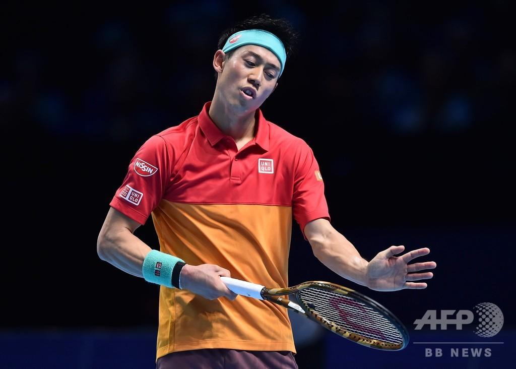 錦織、ティエムに敗れ4強入りならず ATPファイナルズ