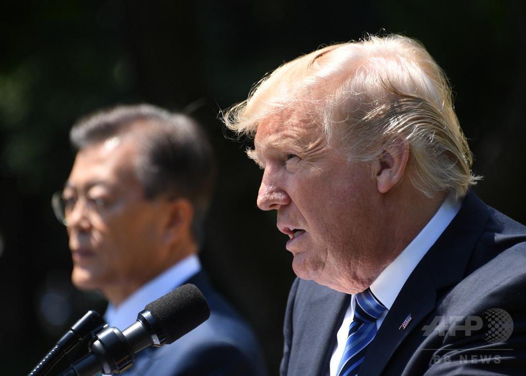トランプ氏の韓国批判、同盟に亀裂も 北朝鮮の思うつぼ