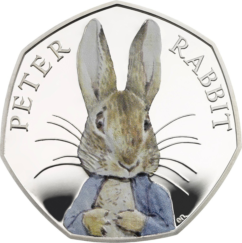 ピーターラビットが硬貨に、ポター生誕150周年記念で 英