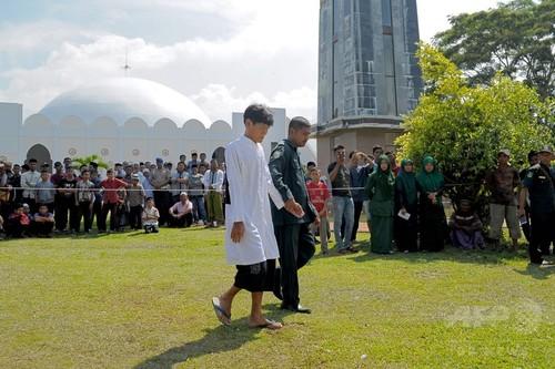 国際ニュース:AFPBB Newsイスラム法のむち打ち刑、初めて仏教徒に執行 インドネシア