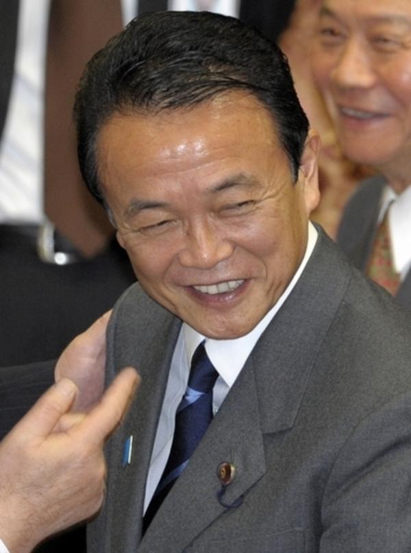 居座りに意欲、麻生首相