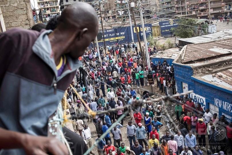 ケニア大統領選への抗議デモ、子ども含む3人撃たれ死亡